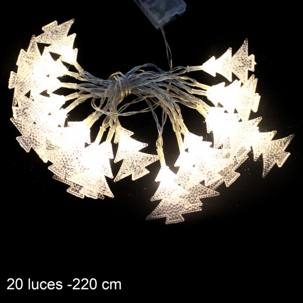 Guirnalda de luces led beige christmas