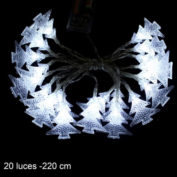 Guirnalda de luces led blanco christmas