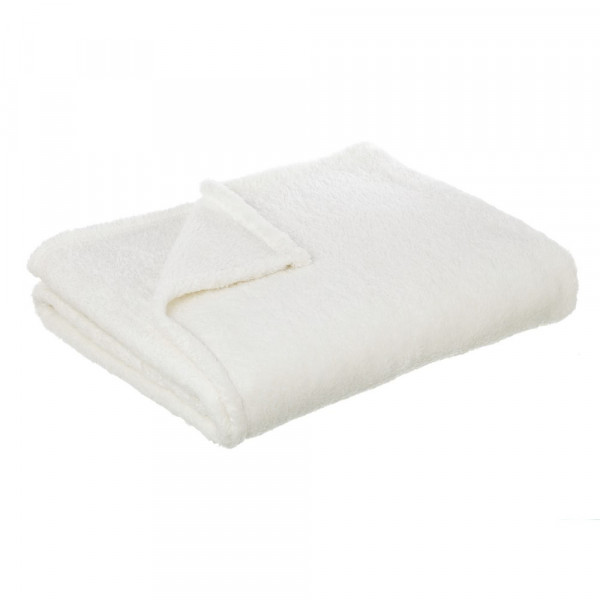 Manta pie de cama blanco basic