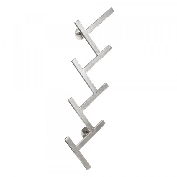 Perchero De Pared De Metal Plateado Nordico Lola Home - Percheros-pared