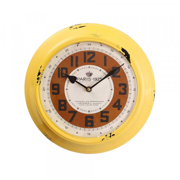 Reloj pared amarillo factory