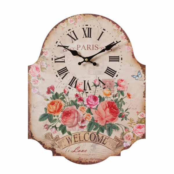 Reloj pared beige france