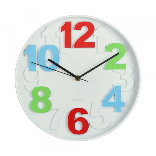 Reloj de pared moderno multicolor de pl stico lola home - Reloj de pared modernos ...