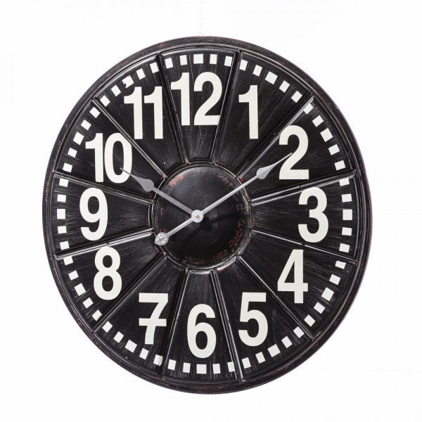 Reloj pared negro factory