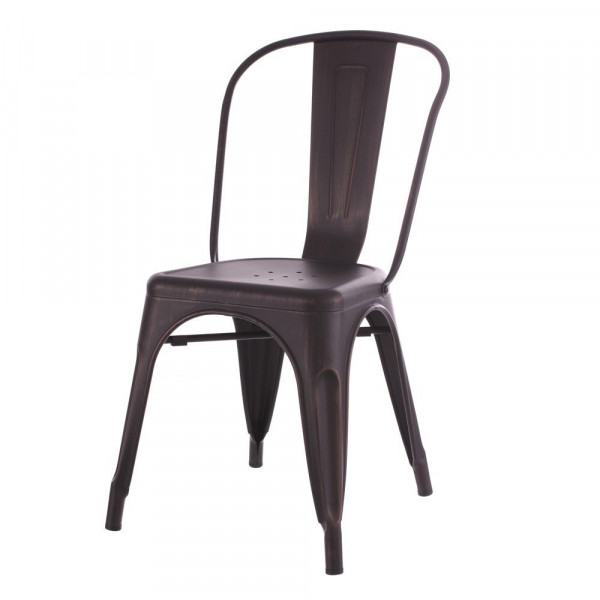 Silla de dise o industrial negra de metal lola home for Sillas de salon de diseno