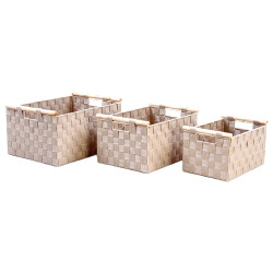 Cesta multiusos beige france