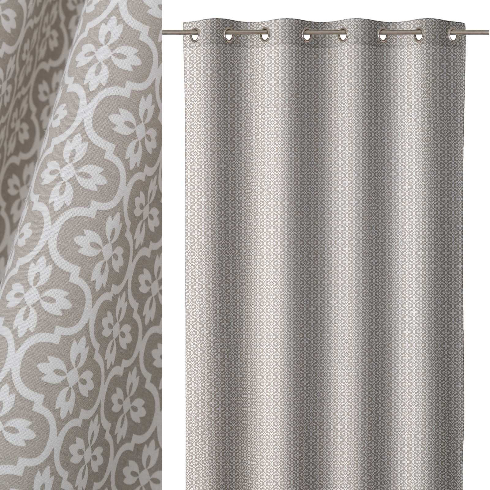 Cortina de 140x260 moderno gris de microfibra lola home for Cortinas salon gris