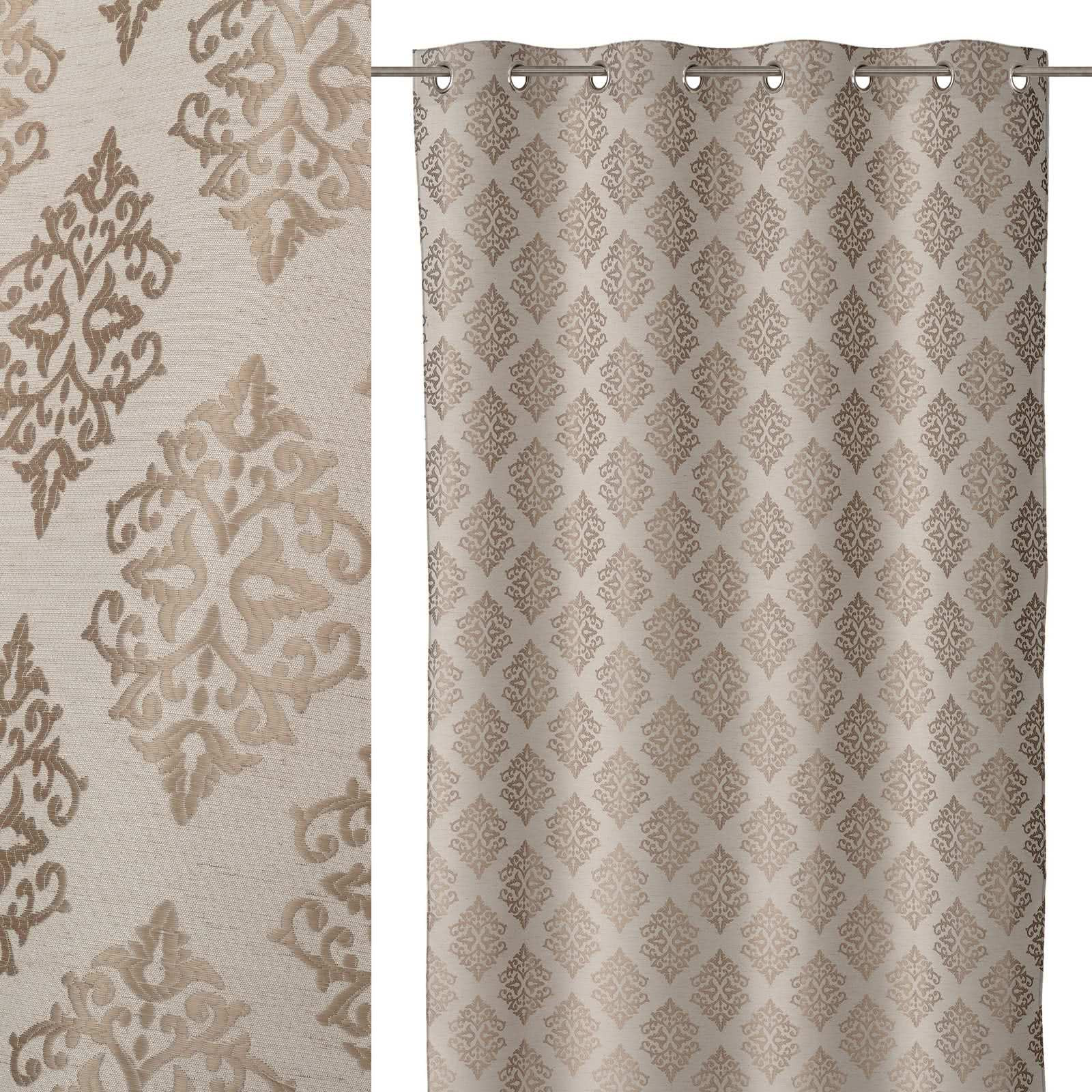 Cortina de 140x260 cl sico marr n de microfibra lola home for Cortinas salon marron