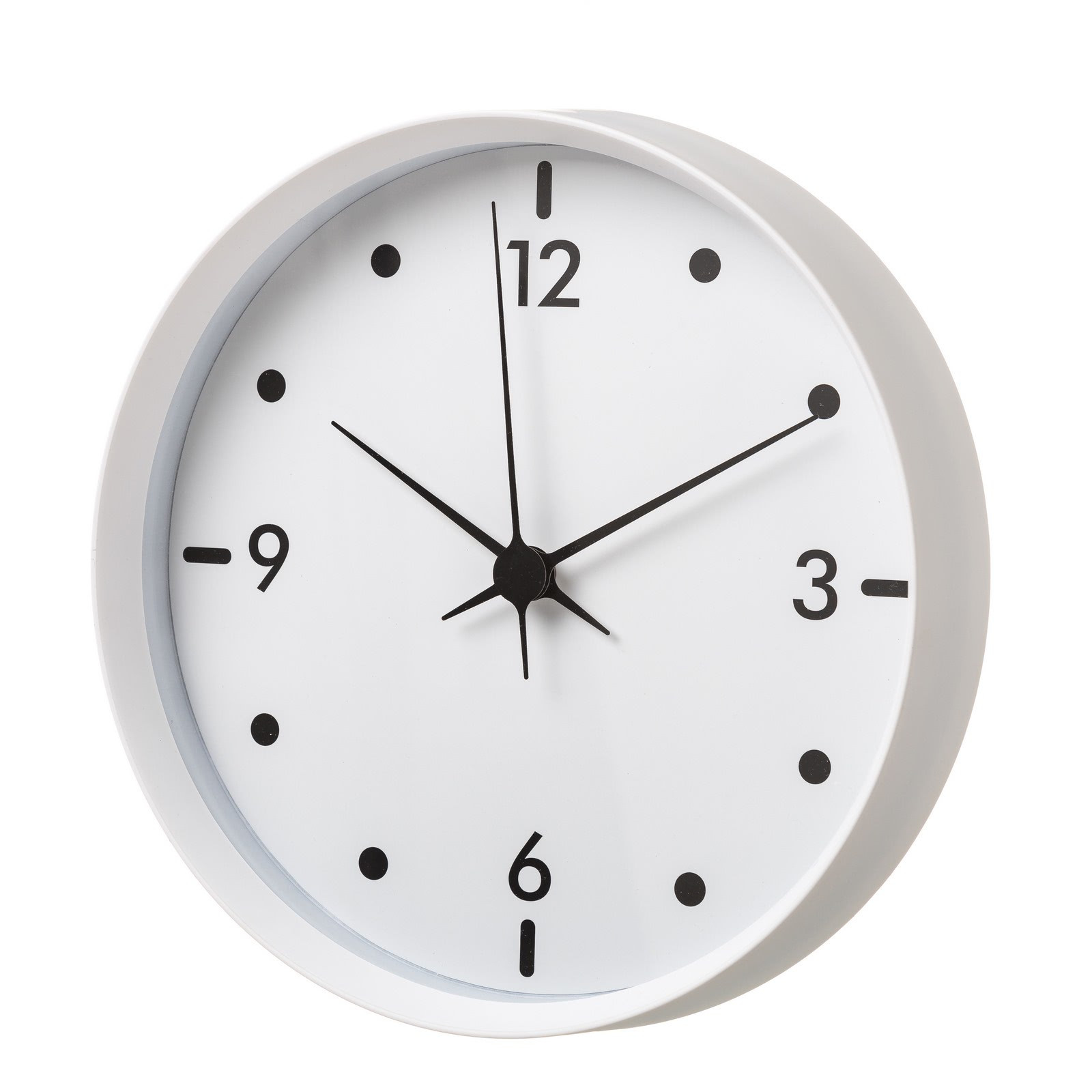 Reloj de pared minimalista blanco de pl stico lola home for Relojes de salon modernos