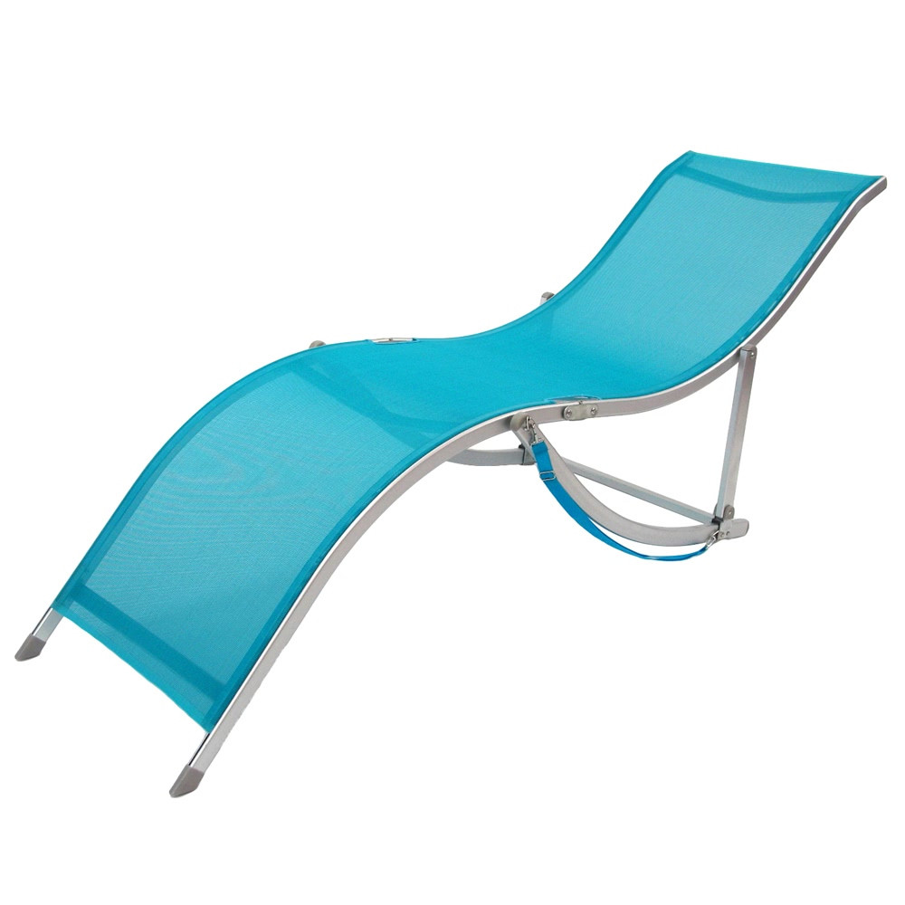 Tumbona plegable de playa azul de aluminio lola home for Tumbona plegable playa